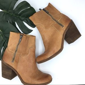 Lucky Brand | Brown Leather Ankle Heeled Boots